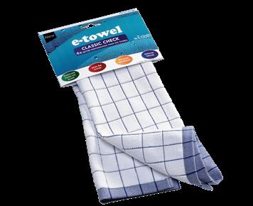 Classic Check Tea Towel (Blue)